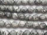 Gray Crazy Lace Agate Faceted Round Gemstone Beads 10mm (GS4905)