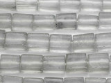 Gray Rectangular Recycled Glass Beads 14-20mm - Indonesia (RG678)