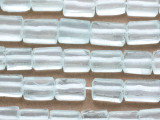 Pale Aqua Rectangular Recycled Glass Beads 13-20mm - Indonesia (RG680)