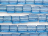 Blue Rectangular Recycled Glass Beads 13-20mm - Indonesia (RG682)