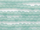 Pale Aqua Irregular Round Recycled Glass Beads 6-8mm - Indonesia (RG687)