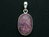 Sterling Silver & Ruby Pendant 30mm (GSP2536)