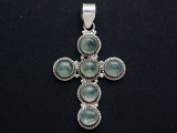 Sterling Silver & Quartz Pendant 51mm (GSP2539)