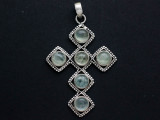 Sterling Silver & Quartz Pendant 62mm (GSP2540)