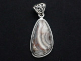 Sterling Silver & Crazy Lace Agate Pendant 31mm (GSP2544)