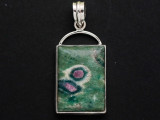 Sterling Silver & Ruby Zoisite Pendant 44mm (GSP2551)