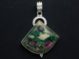 Sterling Silver & Ruby Zoisite Pendant 49mm (GSP2554)
