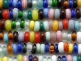 Multi-Color Rondelle Glass Beads 8-10mm (JV1319)