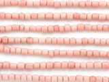 Pastel Pink Irregular Cylinder Glass Beads 4-5mm (JV1331)