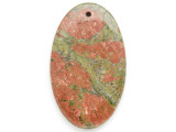 Unakite Gemstone Pendant 60mm (GSP2599)