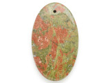 Unakite Gemstone Pendant 60mm (GSP2600)