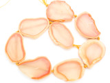 Peach Orange Agate Slab Gemstone Beads 42-48mm (AS1025)