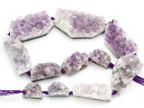 Amethyst Crystal Slab Gemstone Beads 21-52mm (GS4910)