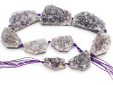 Amethyst Crystal Slab Gemstone Beads 32-52mm (GS4911)