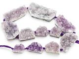 Amethyst Crystal Slab Gemstone Beads 19-52mm (GS4920)