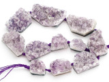 Amethyst Crystal Slab Gemstone Beads 20-48mm (GS4922)