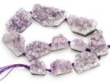 Amethyst Crystal Slab Gemstone Beads 20-48mm (GS4922)