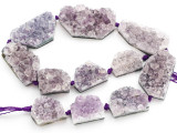 Amethyst Crystal Slab Gemstone Beads 24-47mm (GS4924)