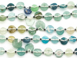 Small Multi-Color Round Tabular Roman Glass Beads (AF1942)