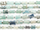 Small Multi-Color Bowtie Roman Glass Beads (AF1944)