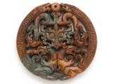 Carved Jade Pendant 68mm (GSP2766)
