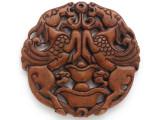 Carved Jade Pendant 70mm (GSP2769)