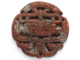 Carved Jade Pendant 66mm (GSP2774)
