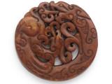 Carved Jade Pendant 68mm (GSP2782)
