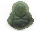 Buddha Carved Jade Pendant 42mm (GSP2794)