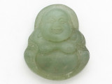Buddha Carved Jade Pendant 34mm (GSP2797)