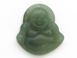 Buddha Carved Jade Pendant 42mm (GSP2803)