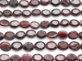 Garnet Faceted Oval Tabular Gemstone Beads 8mm (GS4925)