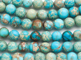 Aqua Terra Jasper Round Gemstone Beads 10mm (GS4930)