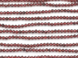 Garnet Faceted Round Gemstone Beads 2-3mm (GS4936)