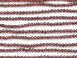 Garnet Faceted Round Gemstone Beads 2-3mm (GS4936)