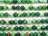 Green Agate Faceted Round Gemstone Beads 6mm (GS4940)