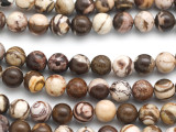 Brown Zebra Jasper Round Gemstone Beads 8mm (GS4943)