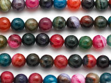 Multi-Color Agate Faceted Round Gemstone Beads 8mm (GS4950)