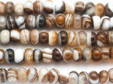 Banded Agate Rondelle Gemstone Beads 8mm (GS4951)