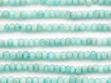 Amazonite Faceted Rondelle Gemstone Beads 5mm (GS4955)