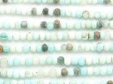 Peruvian Blue Opal Faceted Rondelle Gemstone Beads 5-6mm (GS4961)