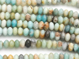 Black Gold Amazonite Saucer Gemstone Beads 8mm (GS4963)