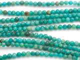 Russian Amazonite Round Gemstone Beads 4mm (GS4965)