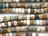 Ocean Jasper Rondelle Gemstone Beads 8mm (GS4967)