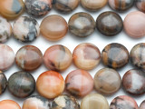 Turtle Jasper Round Tabular Gemstone Beads 14mm (GS4971)