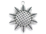 Sunflower - Pewter Pendant 48mm (PW956)
