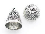 Ornate Cap w/Bail - Pewter Pendant 22mm (PW957)