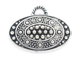 Dotted Oval - Pewter Pendant 30mm (PW958)
