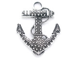 Dotted Anchor - Pewter Pendant 63mm (PW960)