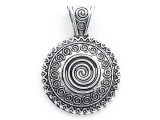 Spiral Medallion - Pewter Pendant 34mm (PW965)